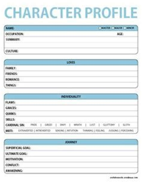 character profile template pdf character basic profile worksheet a free downloadable printable pdf to help with the