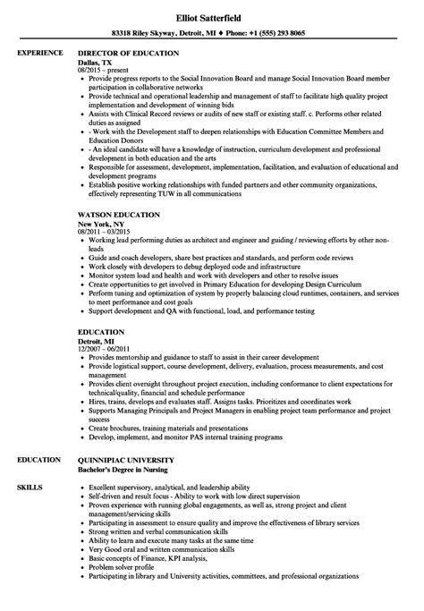 education resume samples velvet jobs