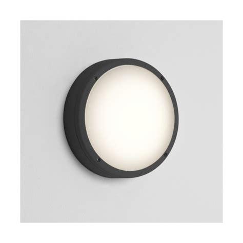 astro 7122 arta round 275 outdoor wall light black