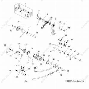 Polaris Atv 2007 Oem Parts Diagram For Engine  Shifting Mechanism