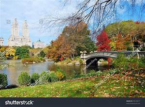 New York City Manhattan Central Park Panorama In Autumn ...