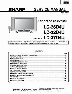 Sharp Sharp Lc 32d4u Pdf Diagramas De Televisores Lcd Y Plasma