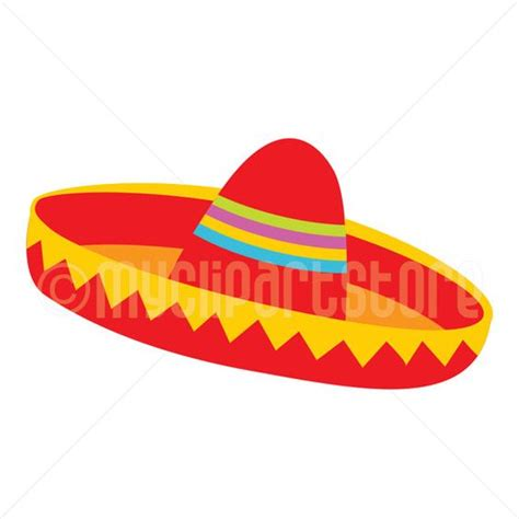 Clipart   Red Sombrero Hat (#2) / Cinco De Mayo / Mexican Clipart (Single Clipart Image
