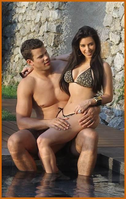 Kardashian Kim Honeymoon Bikini Honey Moon Pool