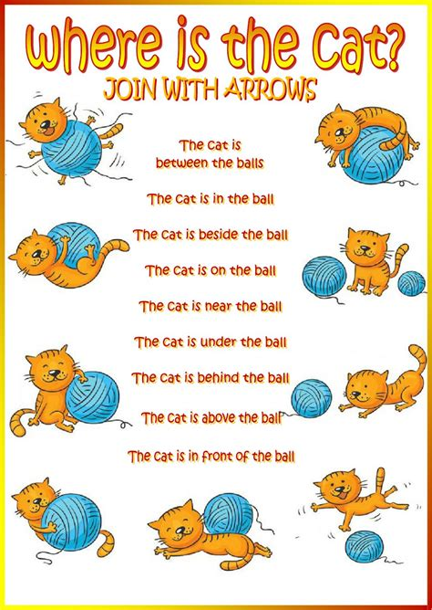 Where Is The Cat?  Interactive Worksheet