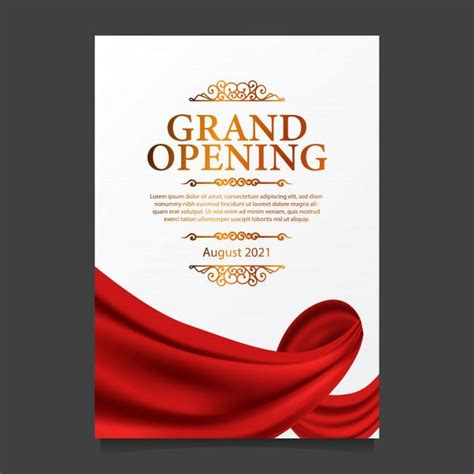 grand opening card template  illustration  red