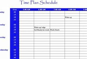 Excel Calendar Chart Time Plan Schedule My Excel Templates