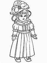 Coloring Doll Pages Antique Popular sketch template
