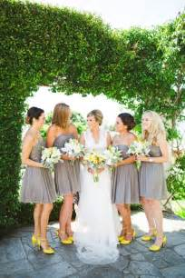 Grey and Yellow Wedding Dresses