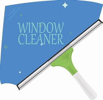 Window Cleaner Cleaning Vector Clip Cartoon Squeegee