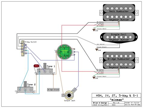 Need Wiring Diagram For Hsh Volume Tone Switch
