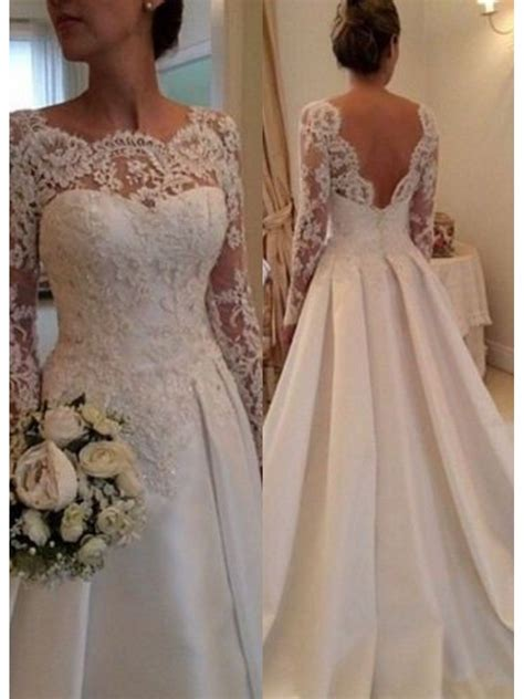 long sleeves lace   wedding dresses bridal
