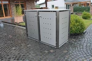 Edelstahl Sichtschutz Metall : m lltonnenbox edelstahl vierkantpfosten 120 o 240 liter m lltonne ~ Orissabook.com Haus und Dekorationen