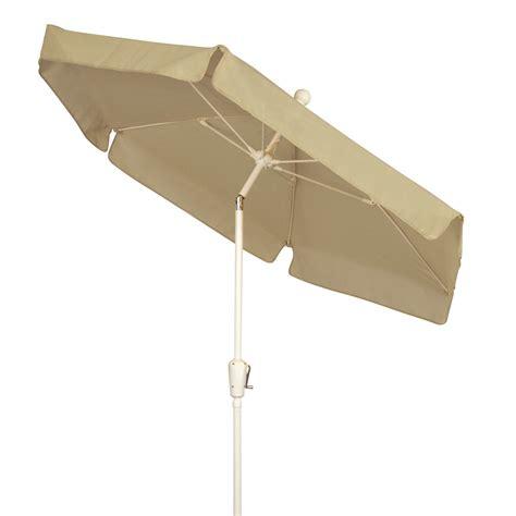 7 5 ft tilt vinyl garden umbrella with bronze pole dfohome