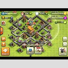 Clash Of Clans Rathaus Level 5 Basedesign Youtube