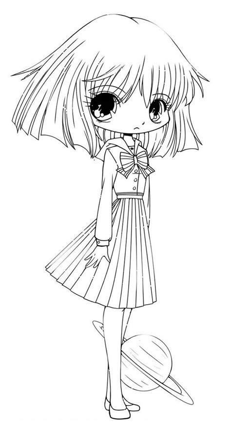 funny hotaru chibi drawing coloring page netart