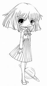 Chibi Coloring Drawing Funny Pages Hotaru Netart Kawaii Characters Sketch Template Detailed sketch template