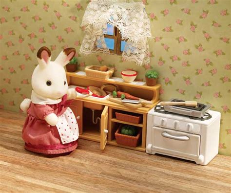 calico critters kitchen calico critters luxury townhome toys