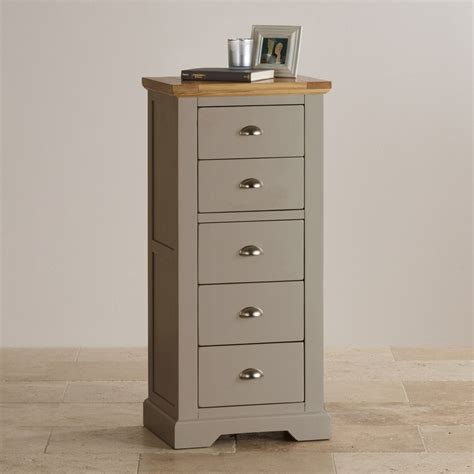 natural oak  light grey painted  drawer chest  drawers