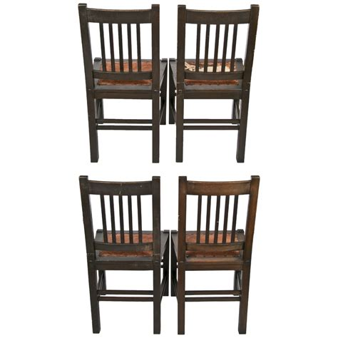 antique stickley quaint furniture wood dining chairs set