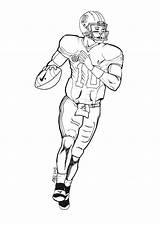 Football Coloring Player Pages Print sketch template