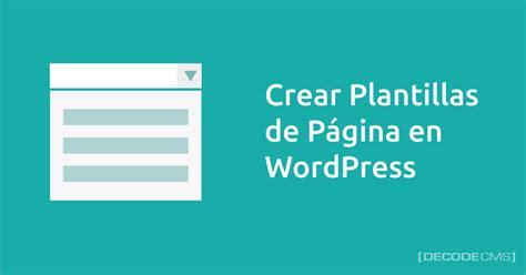 Crear Template De Pagina En by Plantillas De P 225 Gina En Decodecms