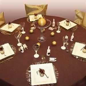 Centre De Table Chocolat : d coration de table chocolat ivoire or d corations f tes ~ Zukunftsfamilie.com Idées de Décoration