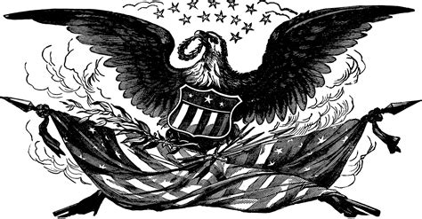 eagle clipart vintage bald eagle with flag image the graphics