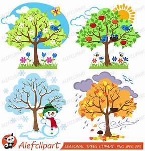 Season clipart seasonal - Pencil and in color season ...