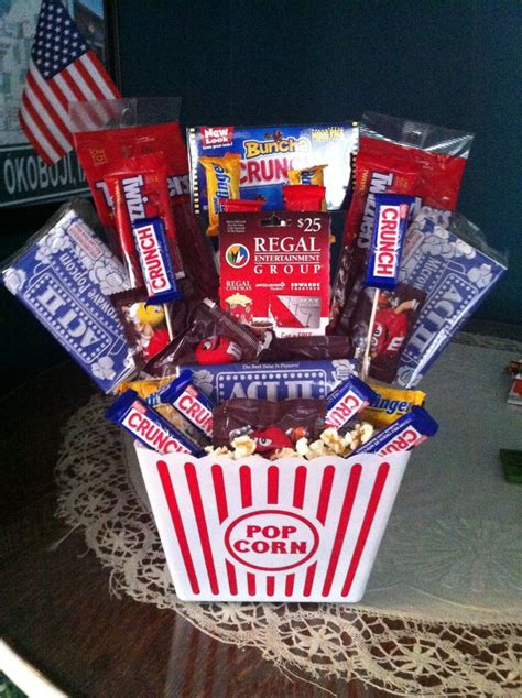 themed basket with a regal gift card in middle