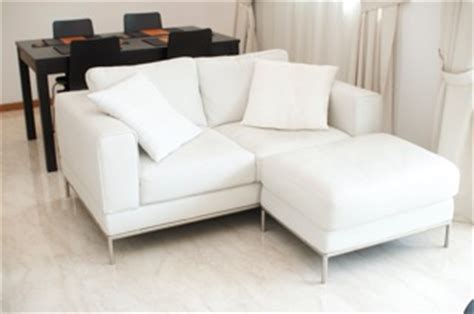 Sofa Seat Singapore by Ikea Arild 2 Seat White Leather Sofa And Foot Stool