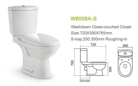 Hot Sale Bathroom Washdown Two Piece Water Closet Toilet