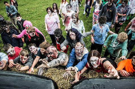 zombie run lives night walk 5km barnsley ran going grusome few keep side