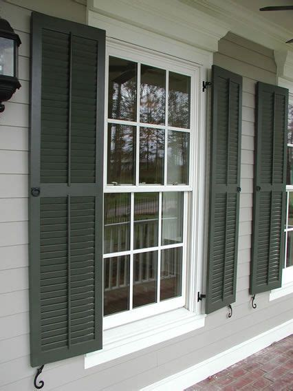 Where To Buy Window Shutters by Classic Louvered Shutter With Faux Tilt Rod Pull Rings