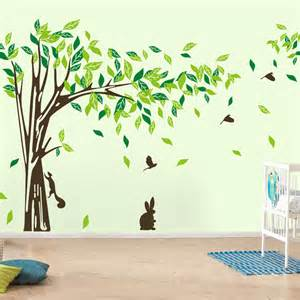 large wall decal tree removable green wall decor living room wall stickers home decor wallpaper