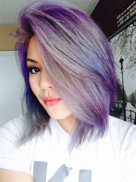 Best 25 Purple Grey Hair Ideas On Pinterest Gray Hair