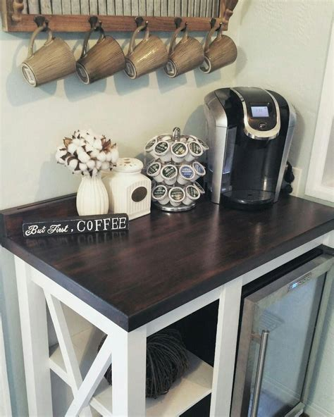 Buy products such as galanz 1.7 cu ft single door mini fridge at walmart and save. DIY rustic coffee/beverage bar for our future home.   Coffee bar home, Bars for home, Mini fridge