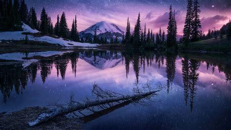 2560x1440 Lake Nature Night Reflection 1440P Resolution ...