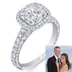engagements rings neil platinum engagement ring with a cushion cut and r