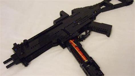 awesome lego machine gun shoots lego bullets cbs news