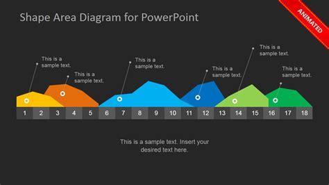 dark infographics area chart template  powerpoint