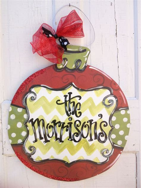 christmas ornament door hanger christmas pinterest
