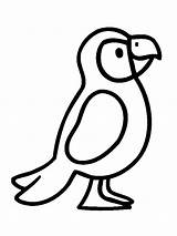 Coloring Puffin Pages Popular Printable Bird sketch template