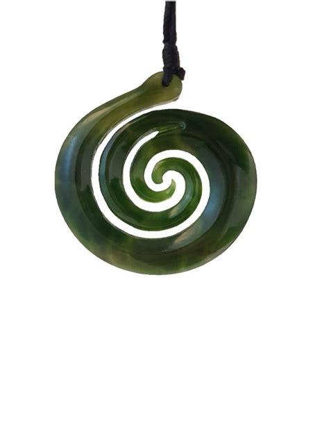 Greenstone Koru NZ Genuine Kawakawa stone - Aorangi