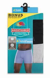 Fruit Of The Loom Men 39 S Breathable 3 1 Bonus Pack Boxer
