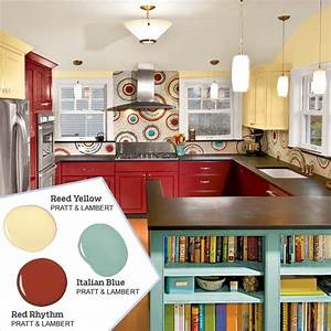 Bold red plus two more five no fail palettes for for Best brand of paint for kitchen cabinets with family wall art ideas