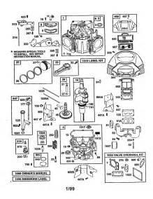 Briggs and Stratton Engine Parts Diagram