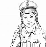Police Coloring Officer Pages Policeman Gambar Polisi Mewarnai Woman Print Military Printable Cartoon Adults Dog Anak Profesi Masjid Popular Boys sketch template