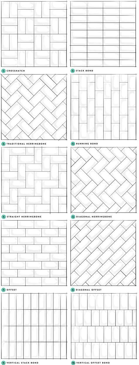tile layout patterns pattern potential subway backsplash tile centsational style
