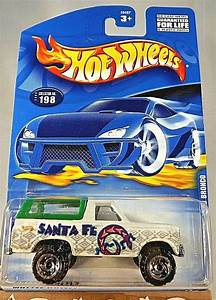 2000 Hot Wheels Collector No #198 FORD BRONCO White w/Chrome RZR Spokes Wheels - Contemporary ...